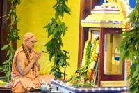 Guru Pujana by H.H.Swamiji on Simollanghana at Shirali  (2nd September 2020)